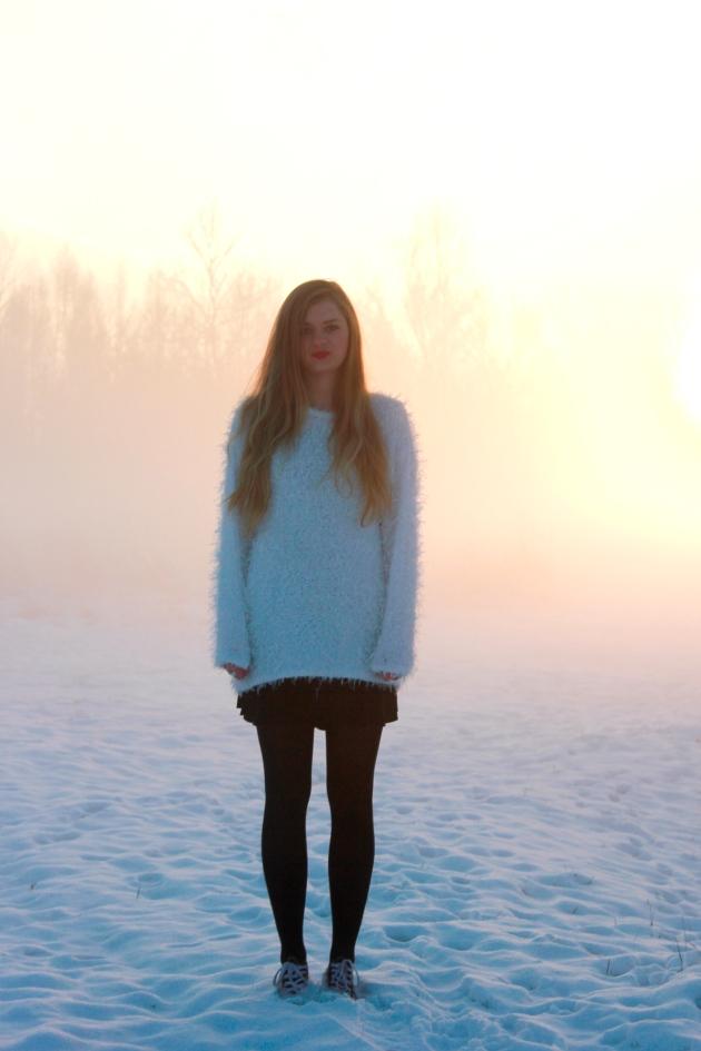 cute sweater white style blog