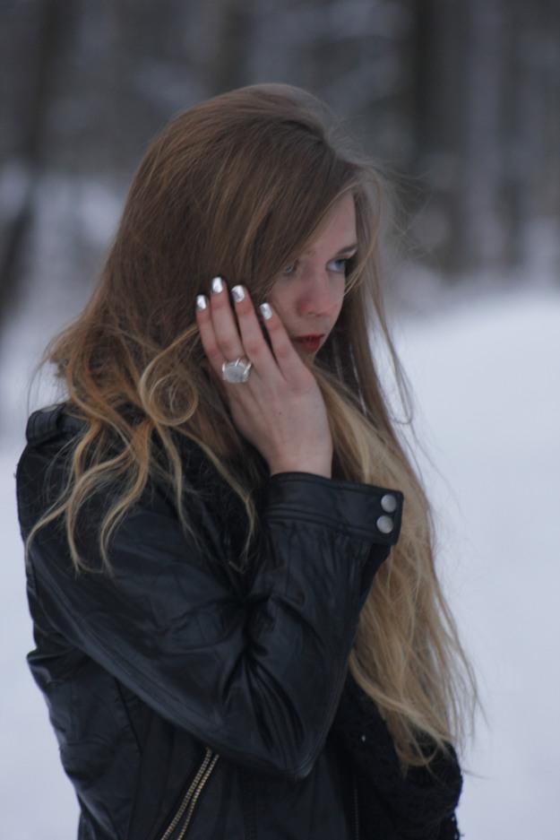 silver nails chanel nail tips
