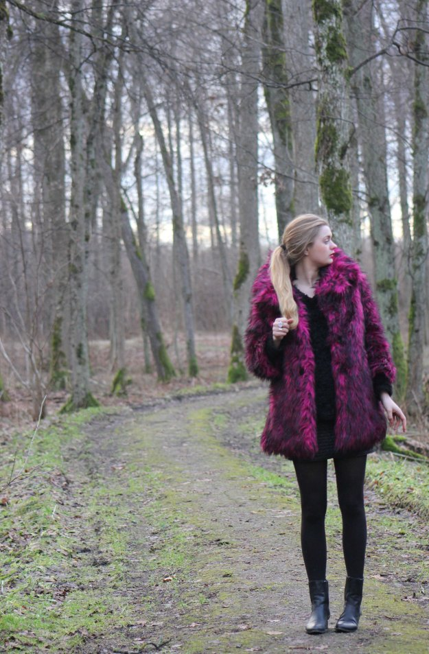 faux fur kitty iron fist coat