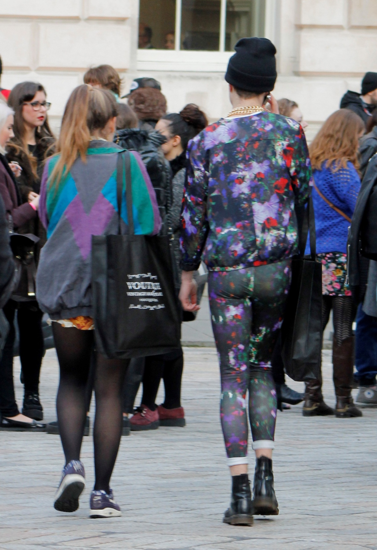 color block print suit london fashion week 2012
