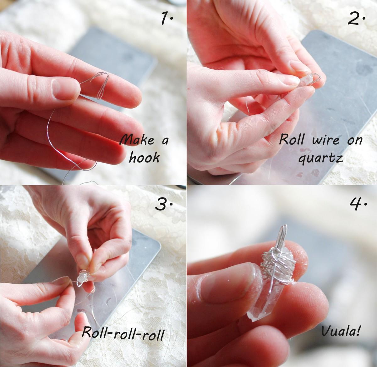 DIY quartz blog necklace diy pendant diy