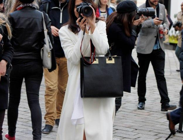 white outfit london fashion week autumn winter