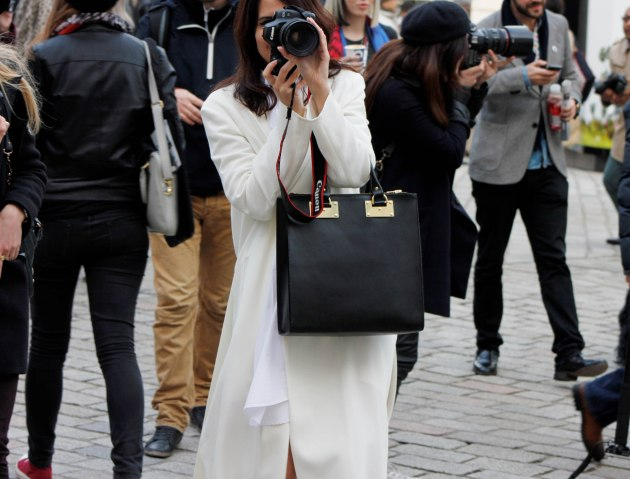 white outfit london fashion week autumn winter