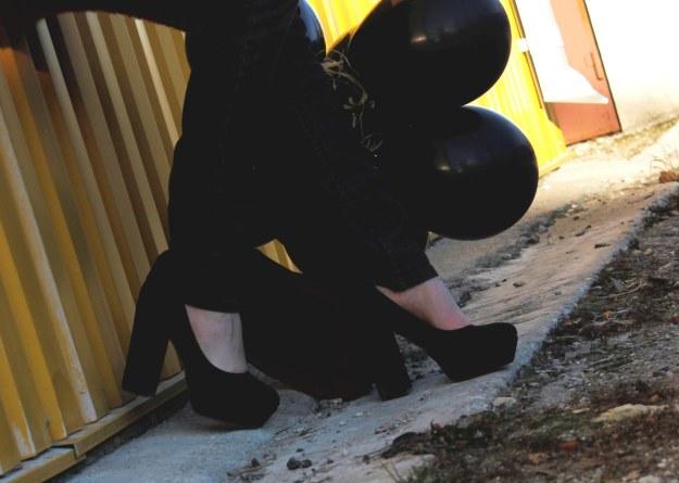 chunky heeels blacks heels shoes rock