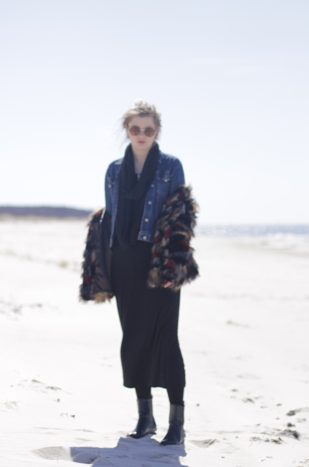 street style boho chic blog asos fur coat