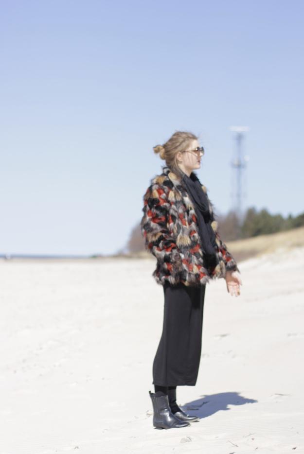 street style inspo patchwork coat