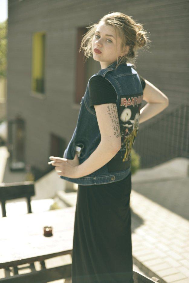rock chic outfit grunge boho fashion blog