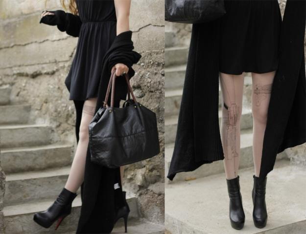 deadlyinlove blog fashion gun print tights fashon tattoo tights