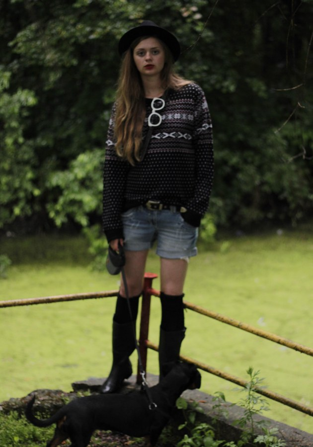 festival outift shorts boots