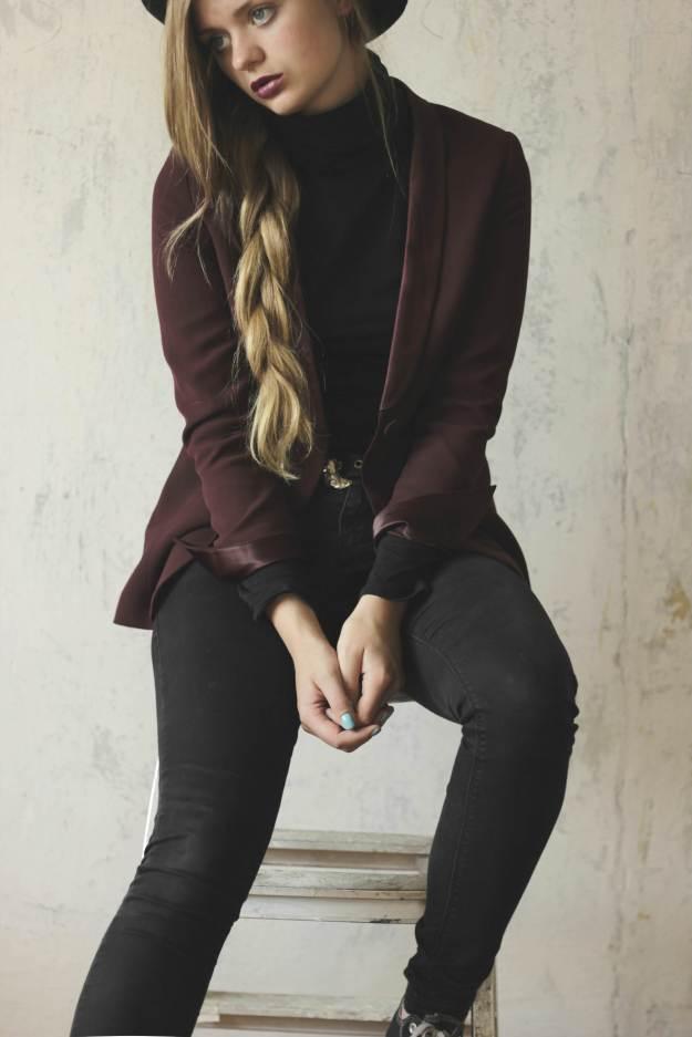 rock chic violet blazer