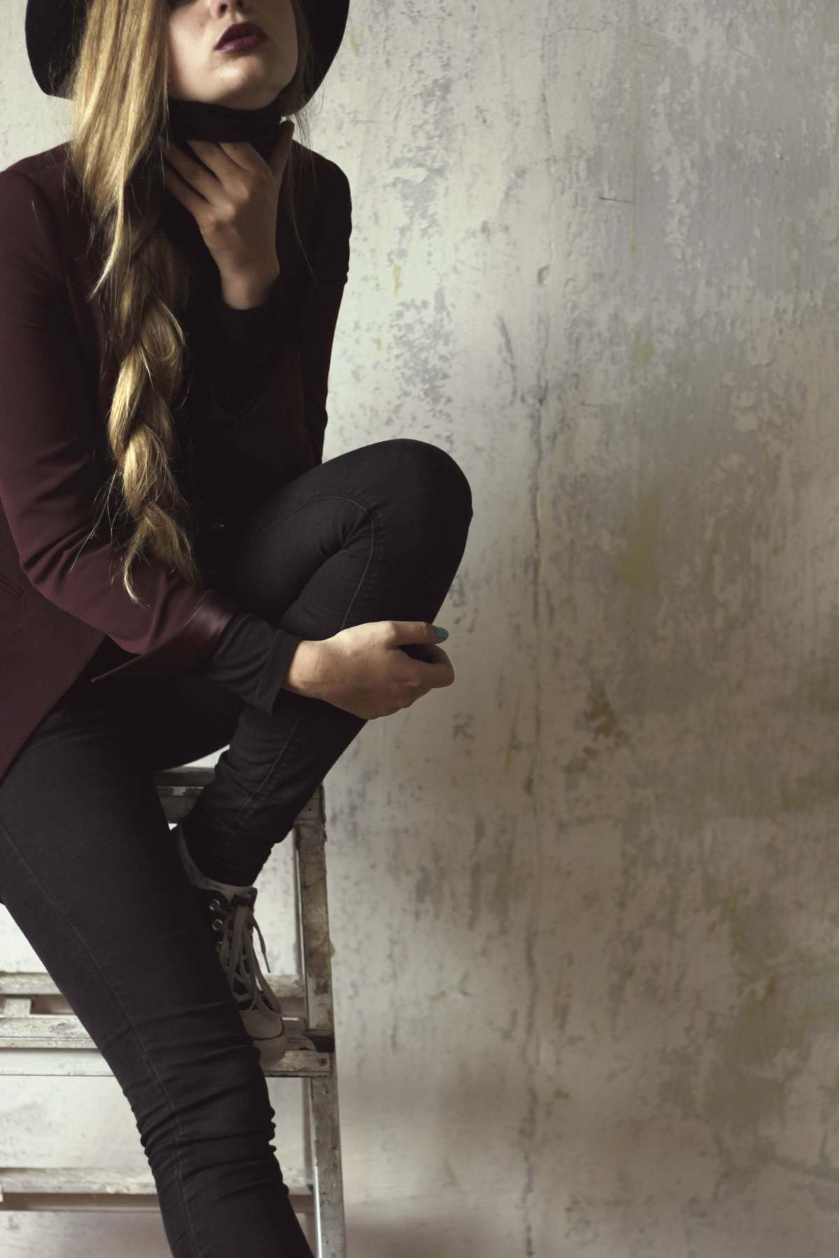 rock chic violete outfit