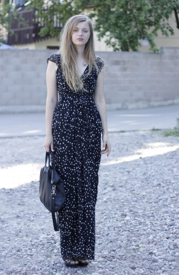 star print dress rock chic maxi dress