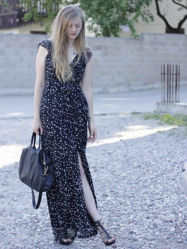 star print maxi dress donce gabanna style