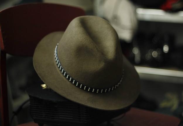 zara fedora hat green