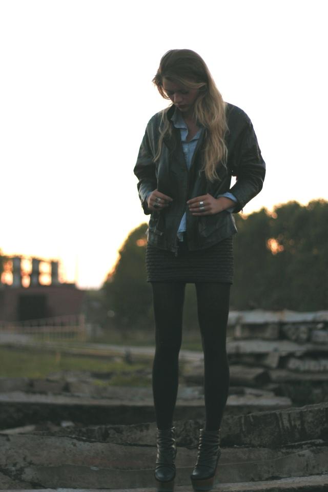 vintage jacket street
