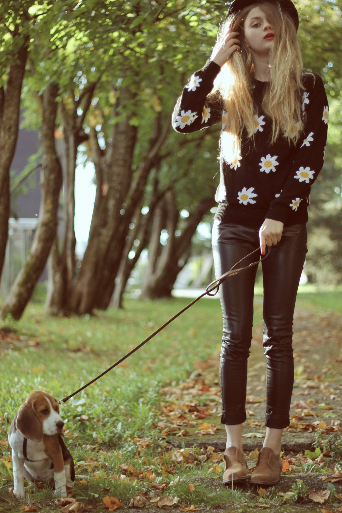 daisy print sweater omg fashion