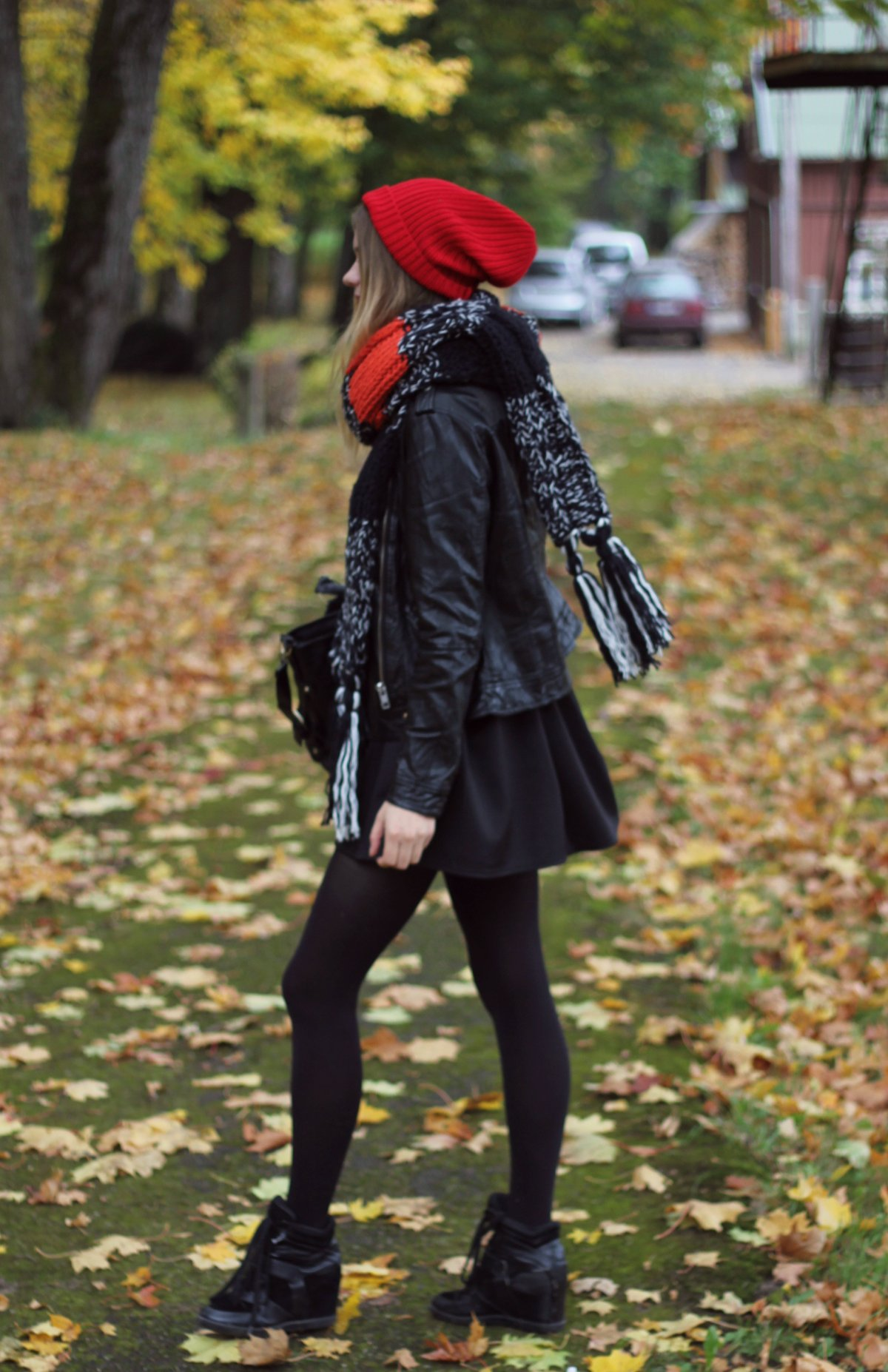 cute fall outfit beanie