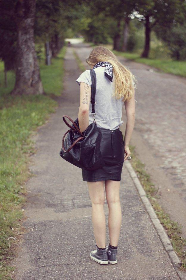 street style blog leather