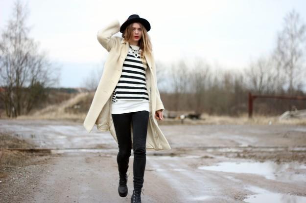 white coat stripe