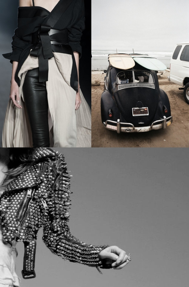 black and white rock chic