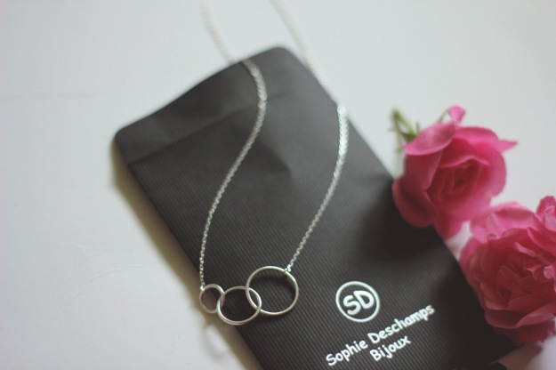 silver minimal necklace