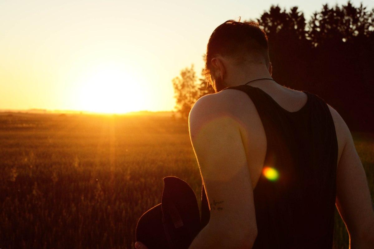 sunset boho hippie